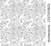 seamless vector black and white ...   Shutterstock .eps vector #1237353823