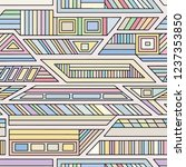 geometric vector seamless...   Shutterstock .eps vector #1237353850