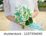 bridal bouquet  exotic wedding   Shutterstock . vector #1237356040
