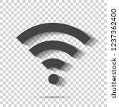 wifi vector icon on transparent ...