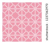 floral ornament on a pink...   Shutterstock .eps vector #1237362970