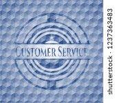 customer service blue emblem...   Shutterstock .eps vector #1237363483