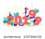 vector illustration of the new... | Shutterstock .eps vector #1237366120