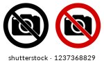 photography not allowed sign.... | Shutterstock .eps vector #1237368829