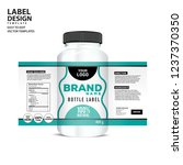 bottle label  package template... | Shutterstock .eps vector #1237370350