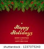 christmas and new years... | Shutterstock .eps vector #1237375243