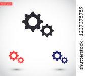 settings vector icon 10 eps | Shutterstock .eps vector #1237375759