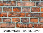 red brick wall texture... | Shutterstock . vector #1237378390