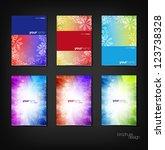 colorful vector brochure  ... | Shutterstock .eps vector #123738328