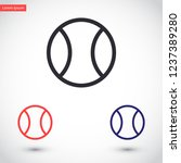 tennis vector icon 10 eps | Shutterstock .eps vector #1237389280