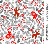 winter seamless  pattern with... | Shutterstock . vector #1237391020
