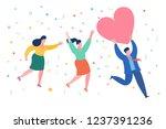 concept of a stolen heart. a...   Shutterstock .eps vector #1237391236