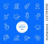 lineo white   space and planets ... | Shutterstock .eps vector #1237393930