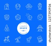 lineo white   space and planets ... | Shutterstock .eps vector #1237393936