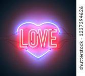 bright heart. retro neon heart...   Shutterstock .eps vector #1237394626