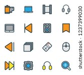 music icons colored line set... | Shutterstock . vector #1237399030