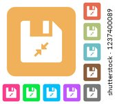 compress file flat icons on...   Shutterstock .eps vector #1237400089