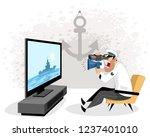 vector illustration of a sailor ... | Shutterstock .eps vector #1237401010