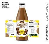 bottle label  package template...   Shutterstock .eps vector #1237403473