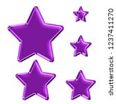 colorful purple plastic set of...   Shutterstock . vector #1237411270