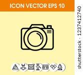 photo camera icon vector   Shutterstock .eps vector #1237412740