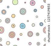 seamless vector pattern. black... | Shutterstock .eps vector #1237419853
