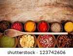 Various Kind Of Spices In...