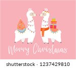 merry christmas card with... | Shutterstock .eps vector #1237429810