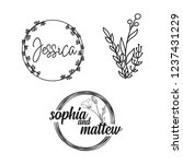 hand drawn logo collection.... | Shutterstock .eps vector #1237431229