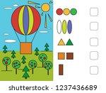 workbook  for preschool...   Shutterstock .eps vector #1237436689