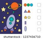logic tasks for preschool...   Shutterstock .eps vector #1237436710