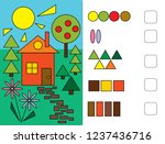 puzzles for children.  we learn ...   Shutterstock .eps vector #1237436716