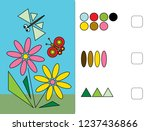 we learn shapes. circle  square ...   Shutterstock .eps vector #1237436866