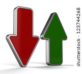 3d up and down arrows | Shutterstock . vector #123744268