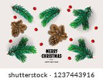 merry christmas and happy new...   Shutterstock .eps vector #1237443916