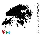 map of hong kong  high detailed ... | Shutterstock .eps vector #1237447066