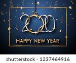 2020 happy new year background... | Shutterstock . vector #1237464916