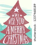 christmas greeting card. | Shutterstock . vector #1237468189