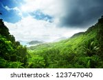 jungle of seychelles island | Shutterstock . vector #123747040