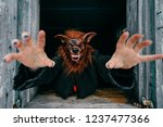 unknown person with creepy... | Shutterstock . vector #1237477366