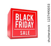 black friday sale sticker on... | Shutterstock . vector #1237490053