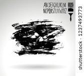black brush stroke and... | Shutterstock .eps vector #1237493773