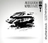 black brush stroke and... | Shutterstock .eps vector #1237493989