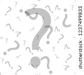 question mark seamless pattern .... | Shutterstock .eps vector #1237499833