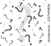 question mark seamless pattern .... | Shutterstock .eps vector #1237499836