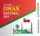 the sultanate of oman happy...   Shutterstock .eps vector #1237504549