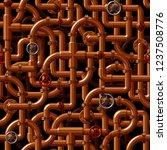 seamless vector pattern of... | Shutterstock .eps vector #1237508776