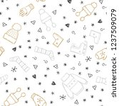 hand drawn seamless pattern of... | Shutterstock .eps vector #1237509079