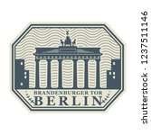 stamp with the words berlin ... | Shutterstock .eps vector #1237511146