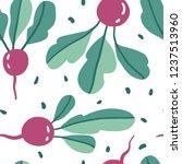 doodle radish vector seamless... | Shutterstock .eps vector #1237513960